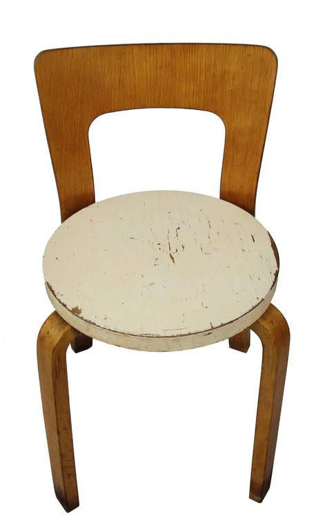 Swedish  Early Alvar Aalto Chair / Stool Model 60