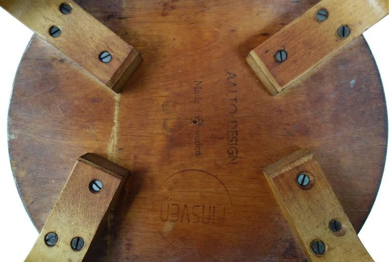 Early Alvar Aalto Chair / Stool Model 60 1