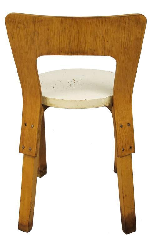 Wood  Early Alvar Aalto Chair / Stool Model 60