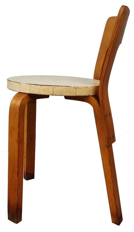 Mid-20th Century  Early Alvar Aalto Chair / Stool Model 60