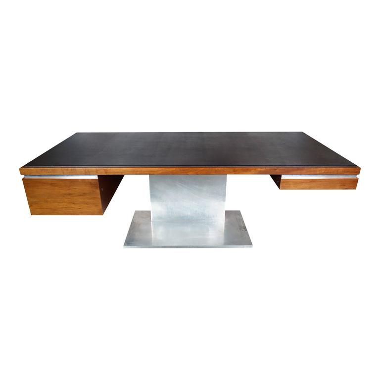 Executive Desk by Warren Platner in Walnut for Lehigh Leopold