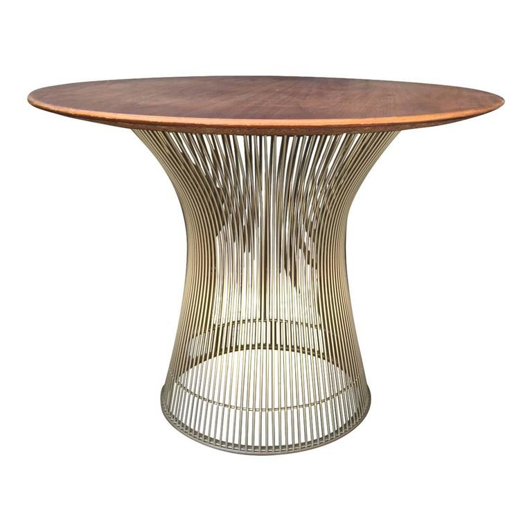 Warren Platner for Knoll Vintage Side Table in Walnut at 1stdibs
