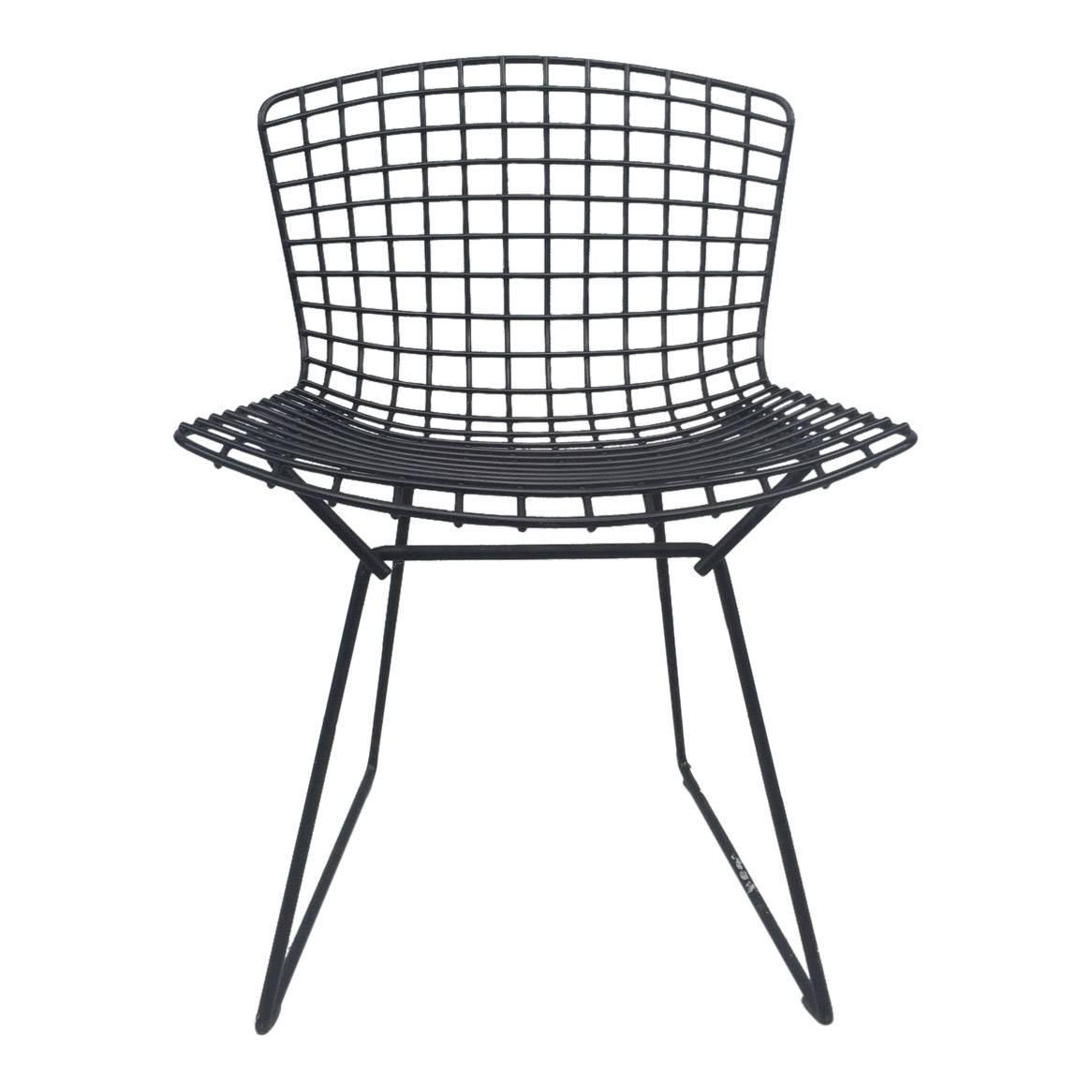 harry bertoia for knoll wire 1970s harry bertoia black wire stool for knoll at 1stdibs harry. Black Bedroom Furniture Sets. Home Design Ideas