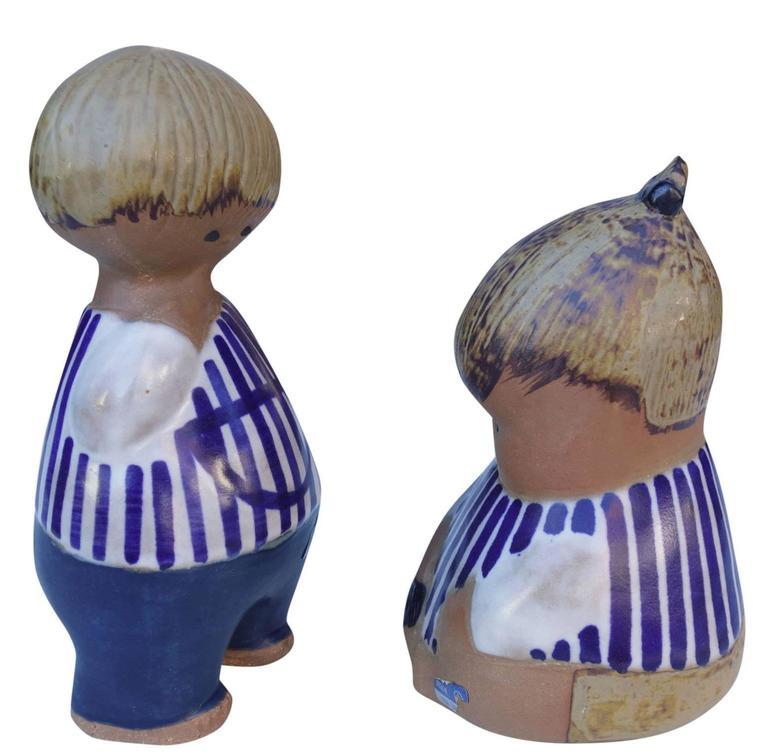 Swedish Adorable Mid-Century Ceramic Children by Lisa Larson For Sale