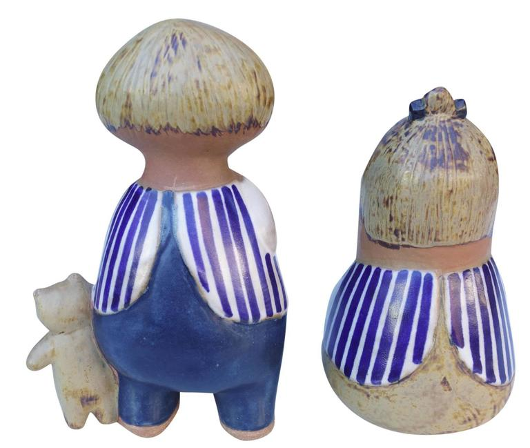In wonderful condition. This adorable ceramic set is designed by Lisa Larsen for Gustavsberg, Sweden.