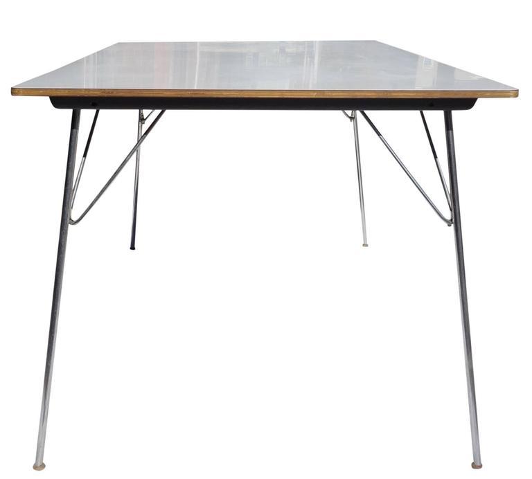 Mid Century Eames DTM U0027Dining Table Metalu0027 2