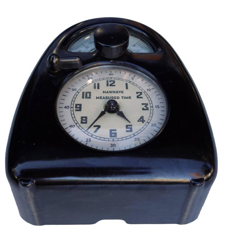 Mid-Century Modern Mid-Century Isamu Noguchi Hawkeye Measured Time Clock and Timer For Sale