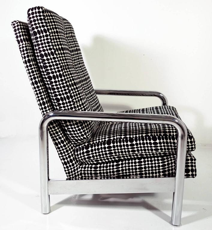 Midcentury Milo Baughman Reclining Lounge Chair In Good Condition In BROOKLYN, NY