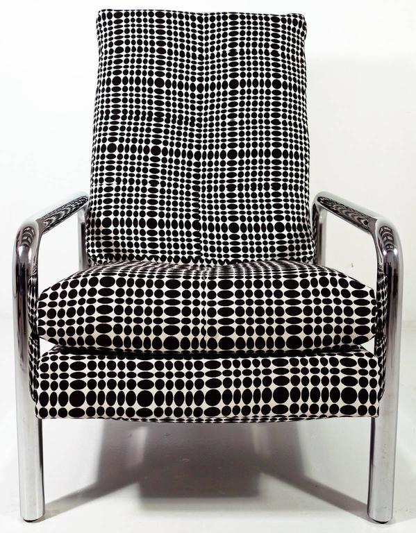 Metal Midcentury Milo Baughman Reclining Lounge Chair