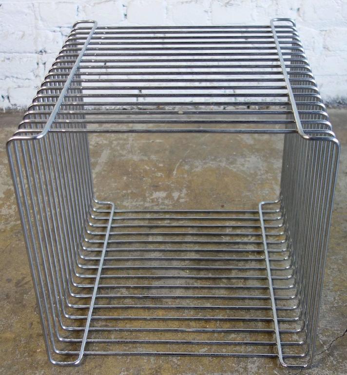 Mid Century Verner Panton Pantonova Wire Cube For Fritz