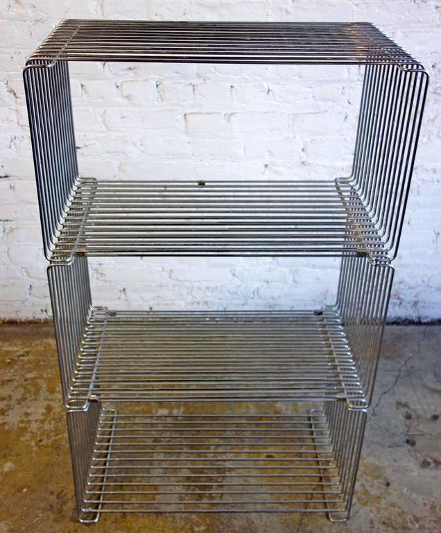 Mid-Century Verner Panton Pantonova Wire Cubes for Fritz Hansen In Good Condition For Sale In BROOKLYN, NY