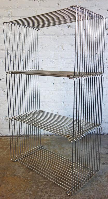Mid-Century Verner Panton Pantonova Wire Cubes for Fritz Hansen 4