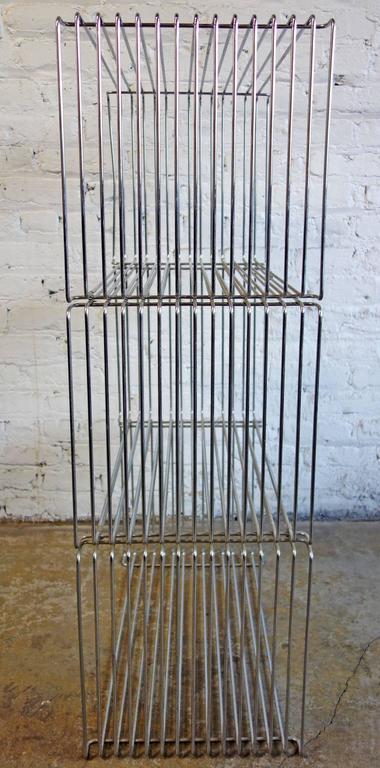Mid-Century Verner Panton Pantonova Wire Cubes for Fritz Hansen 3