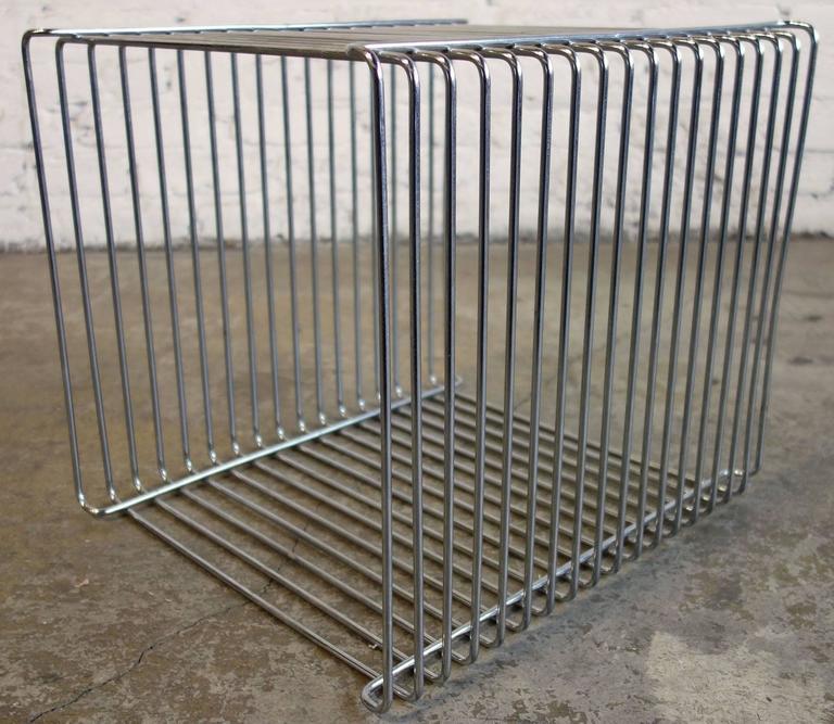 Mid-Century Verner Panton Pantonova Wire Cube for Fritz Hansen 3