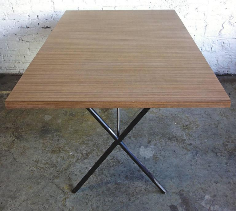 American Early Mid-Century George Nelson for Herman Miller X-Leg Dining Table For Sale