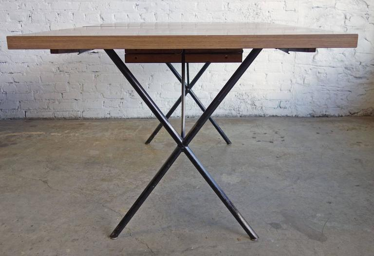 Mid-Century Modern Early Mid-Century George Nelson for Herman Miller X-Leg Dining Table For Sale