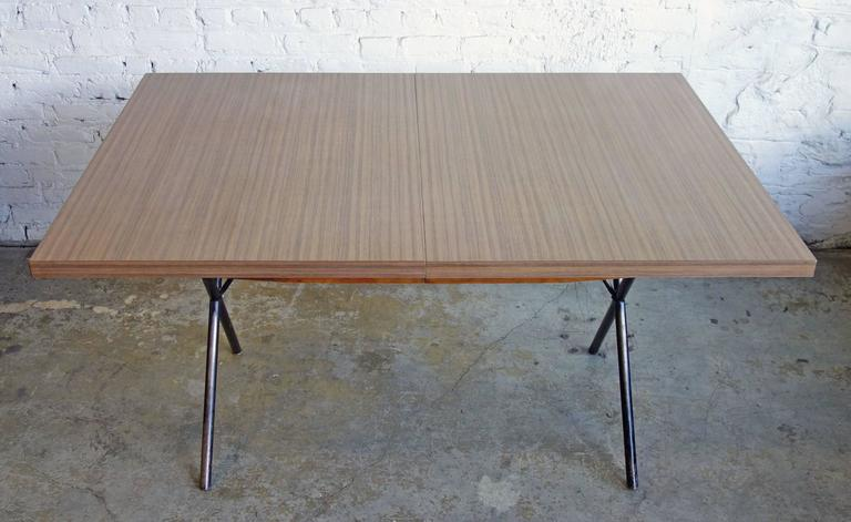 Mid-20th Century Early Mid-Century George Nelson for Herman Miller X-Leg Dining Table For Sale
