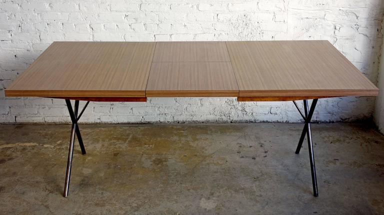 Early Mid-Century George Nelson for Herman Miller X-Leg Dining Table For Sale 2