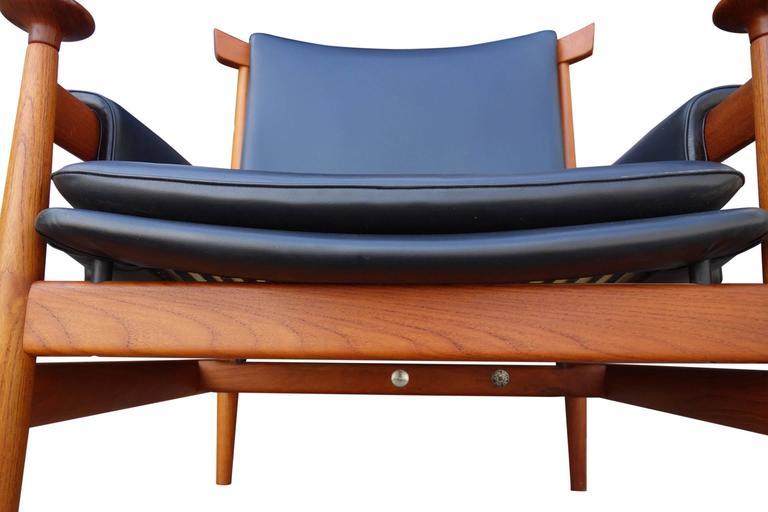 mid century finn juhl bwana lounge chair and ottoman at 1stdibs
