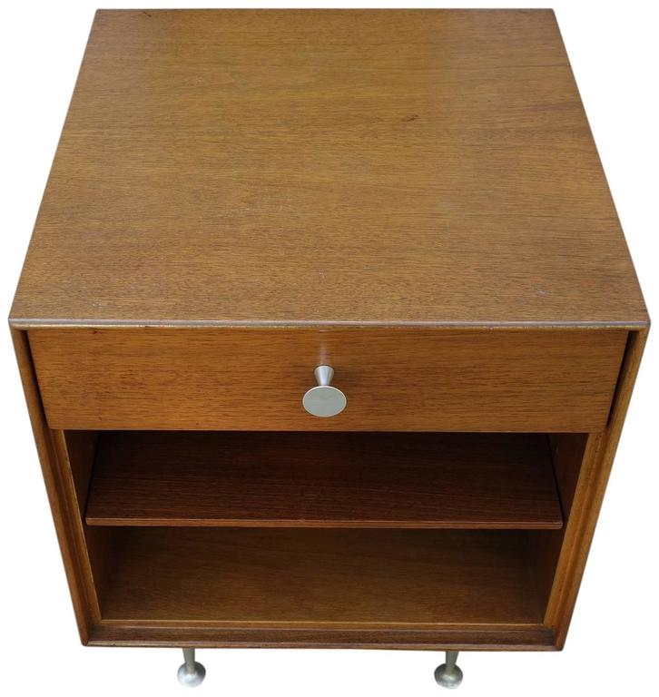 Mid-Century Modern Mid-Century George Nelson Thin Edge Side Table or Nightstand For Sale