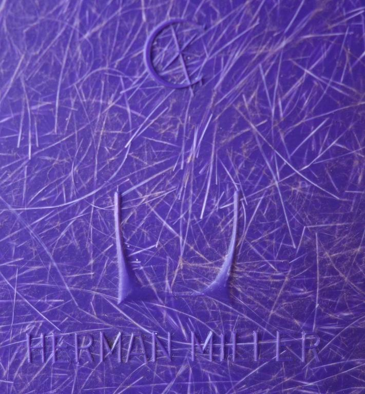 Late 20th Century Mid-Century Eames LAX Lounge Armchair in Rarest Purple Color For Sale