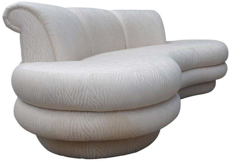 adrian pearsall kidney shaped curved sofa for comfort designs at 1stdibs