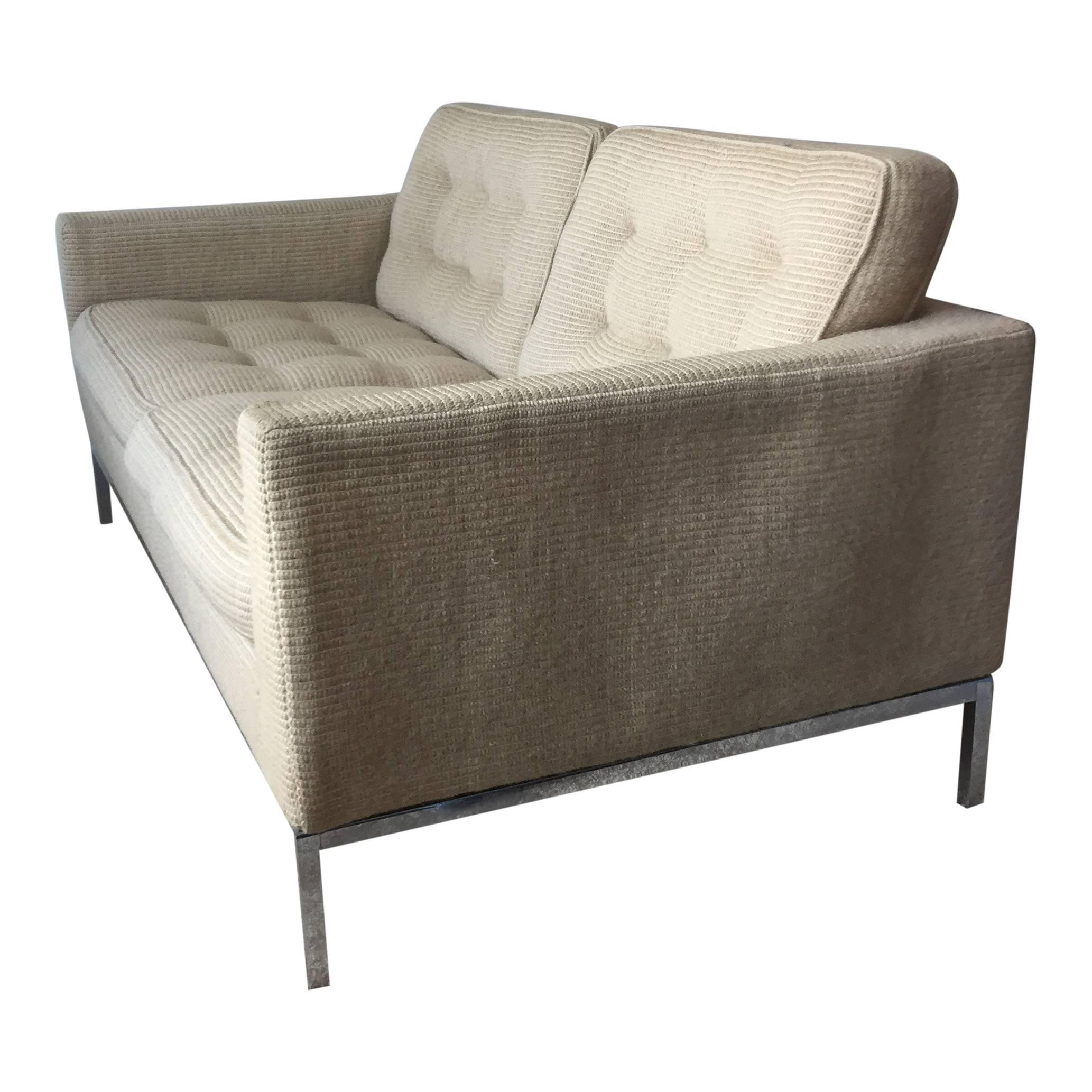 florence knoll for knoll associates midcentury loveseat sofa 1