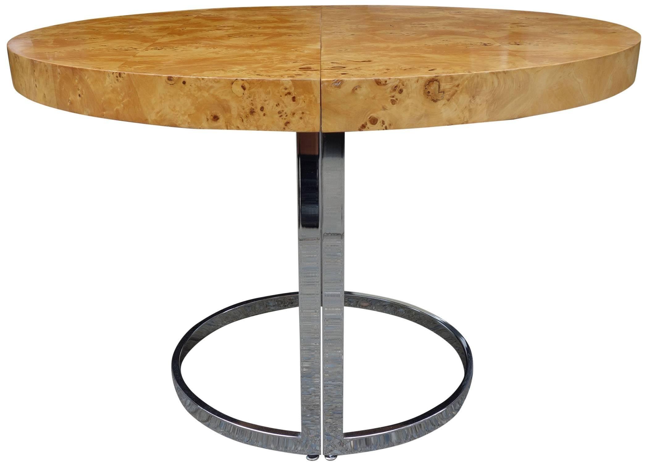 mid century dillingham burl wood dining table style of milo