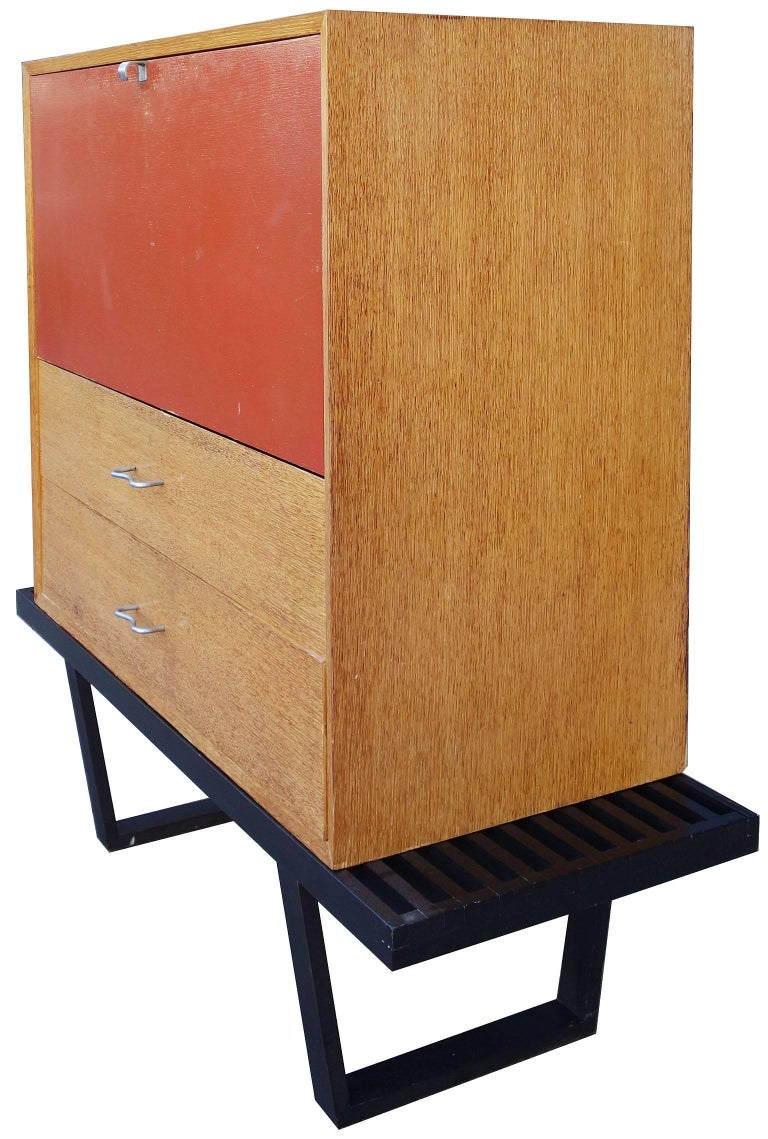 Early Midcentury Modular Cabinet On Platform Bench By