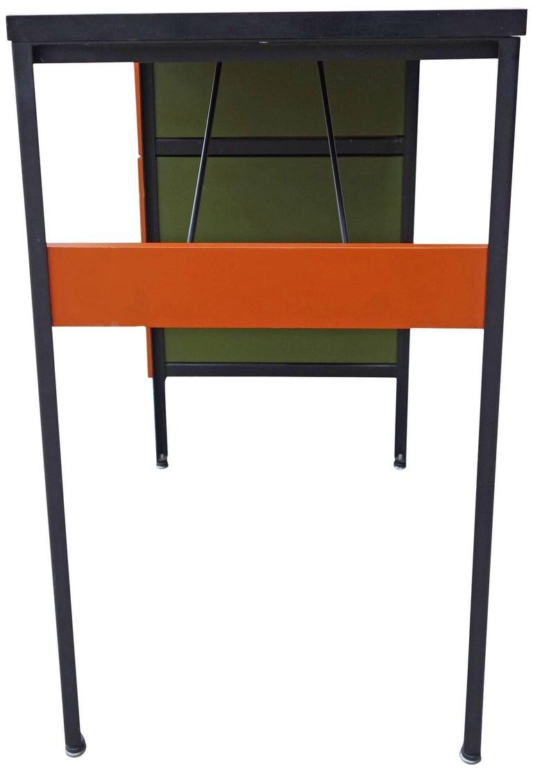 Midcentury Steel Frame Desk By George Nelson For Herman