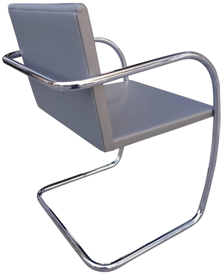 American Midcentury Brno Chairs in Leather by Mies van der Rohe for Knoll For Sale