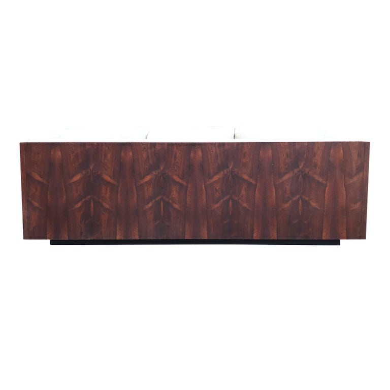 American Milo Baughman for Thayer Coggin Case Sofa in Rosewood For Sale