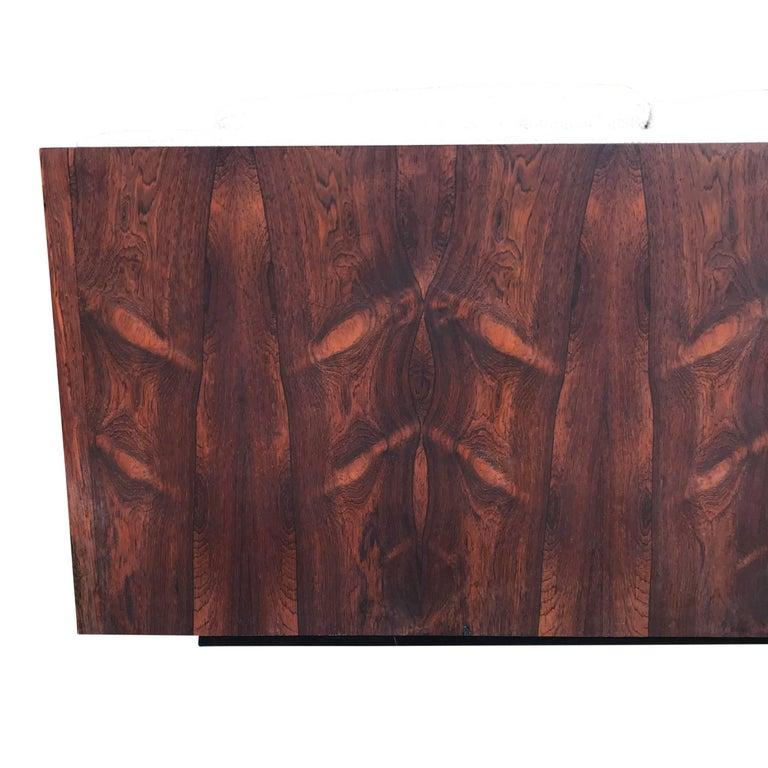 Milo Baughman for Thayer Coggin Case Sofa in Rosewood For Sale 1