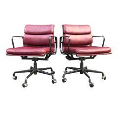 Eames for Herman Miller Red Soft Pad Chairs