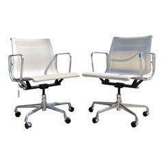 Eames for Herman Miller Aluminium Group Chairs in Mesh