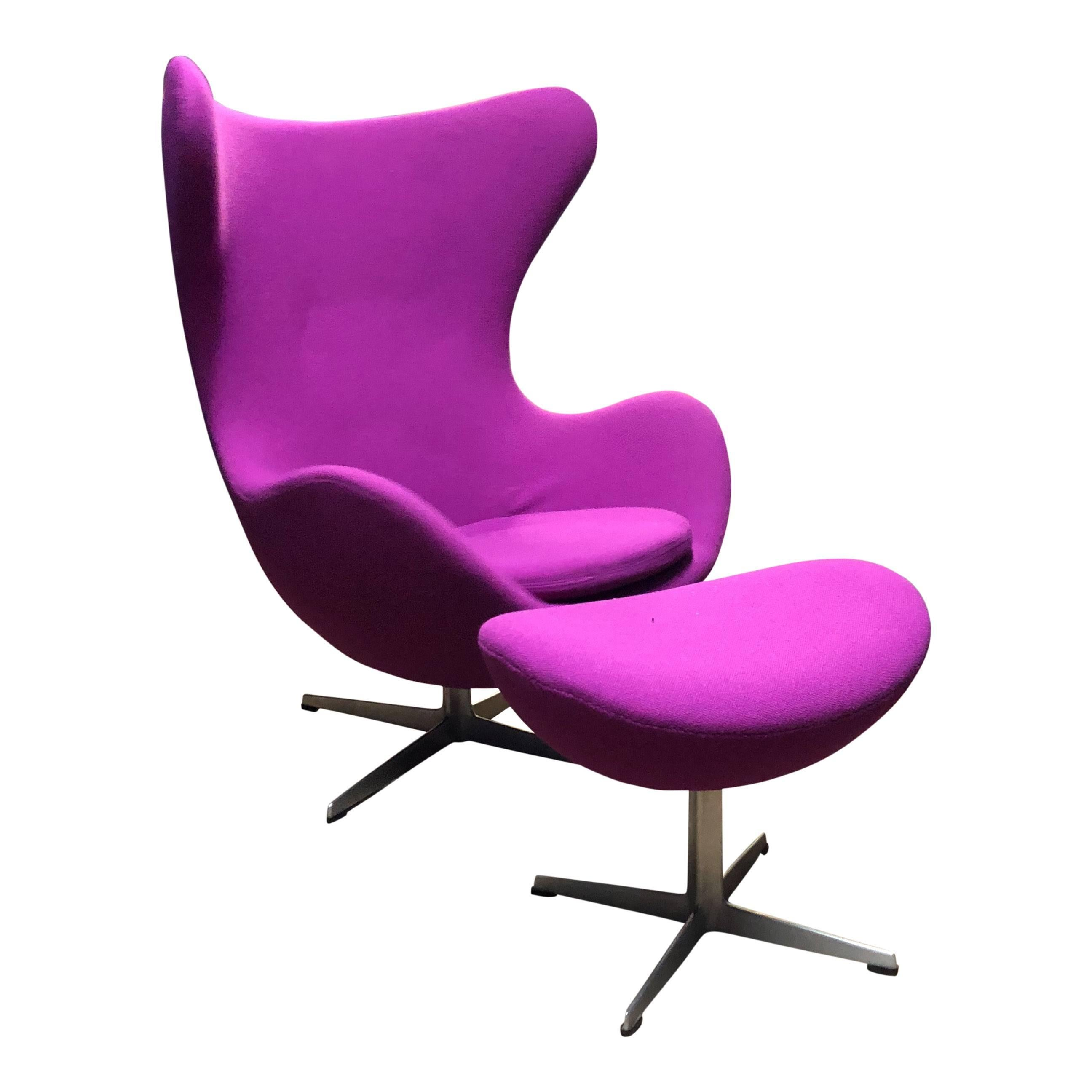 Arne Jacobsen For Fritz Hansen Vintage Egg Chair For Sale