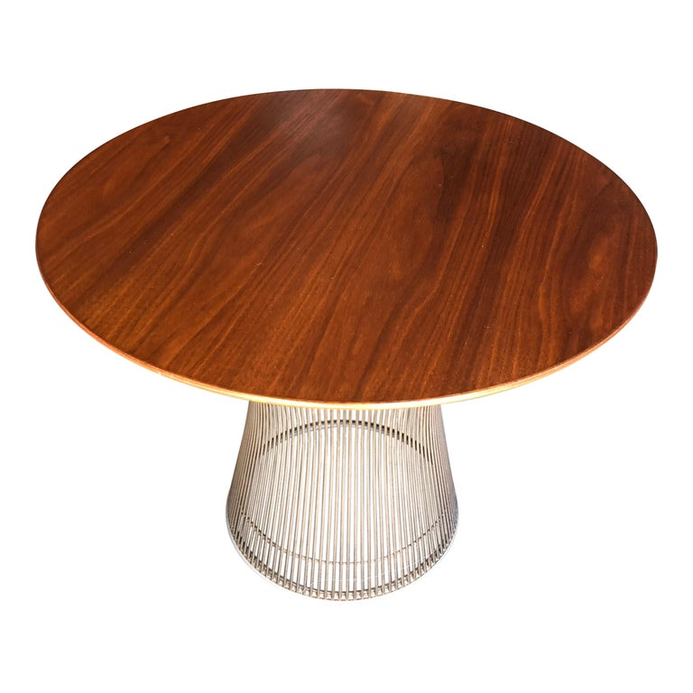 Warren Platner for Knoll Side Table in Walnut and Bronze