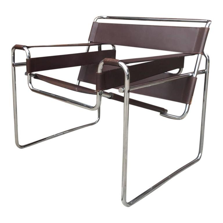 Authentic wassily chairs by marcel breuer produced by for Chaise wassily