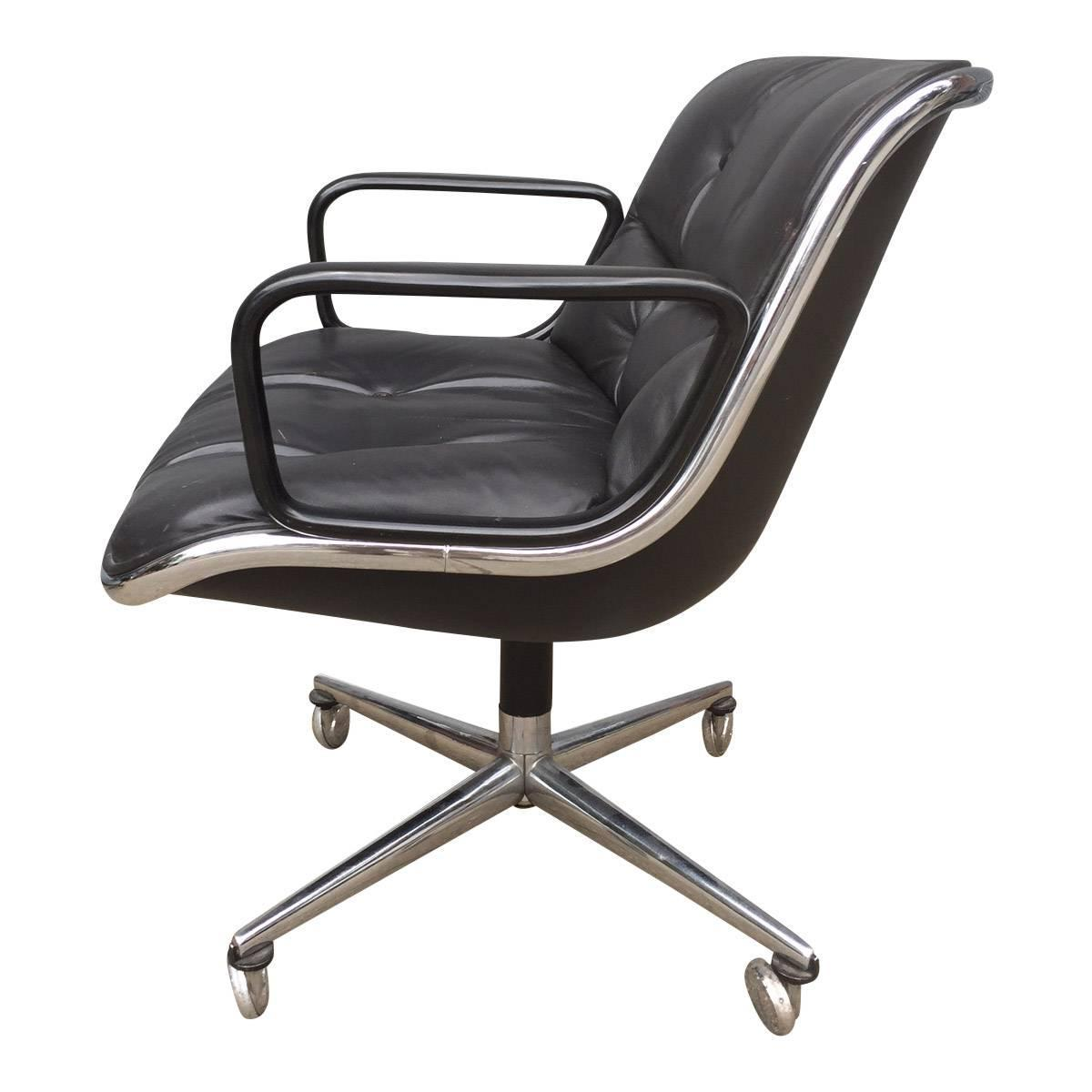 early charles pollock for knoll office chair at 1stdibs