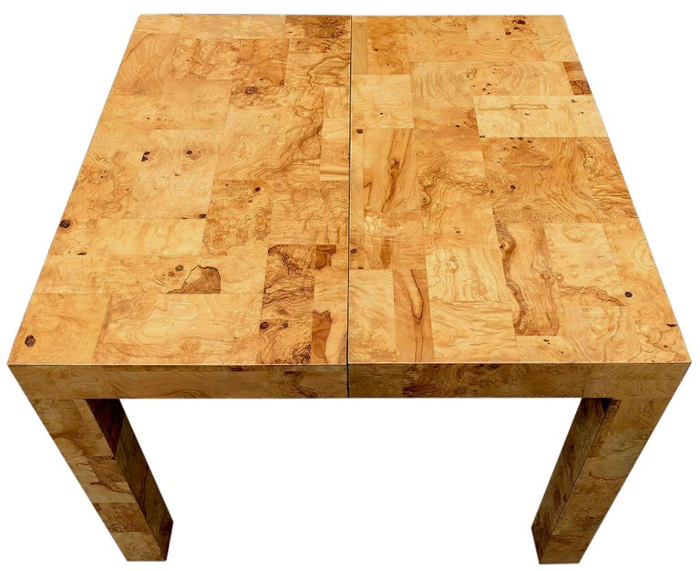 American Signed Mid-Century Paul Evans Burl Patchwork Dining Table For Sale
