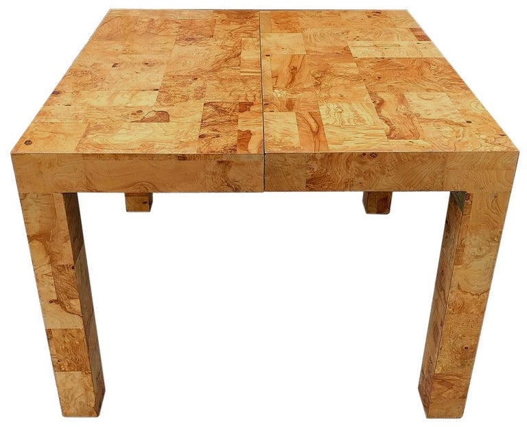 20th Century Signed Mid-Century Paul Evans Burl Patchwork Dining Table For Sale