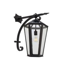 New Large Wrought Iron Arm Mount Exterior/Outdoor Lantern by Anthony Grumbine
