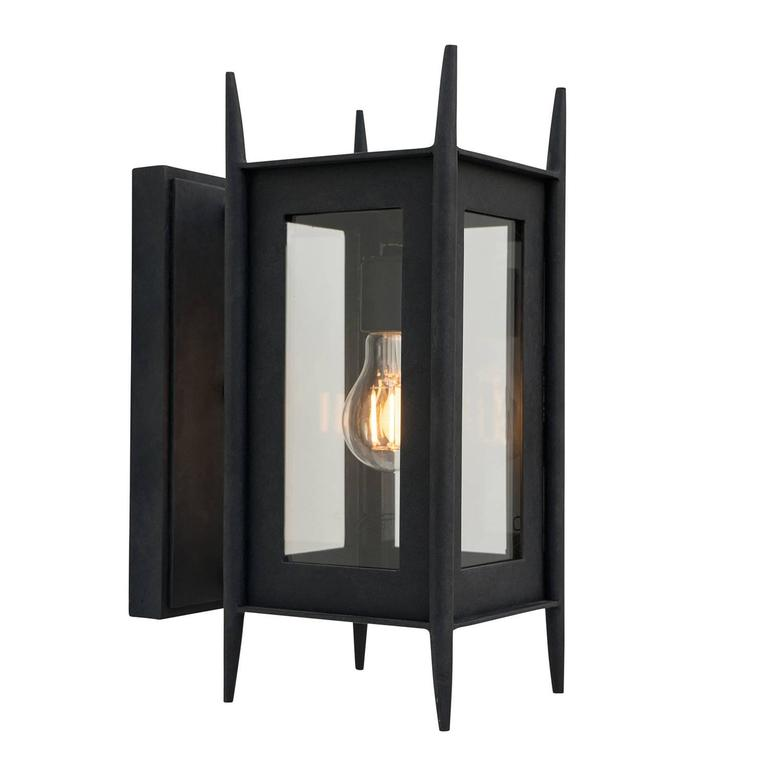 Modern Wrought Iron Exterior Wall Sconce Outdoor Lighting By Nathaniel Arnold For Sale At 1stdibs