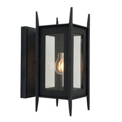 Modern Wrought Iron Wall Sconce, Outdoor Lighting by Nathaniel Arnold, Grey