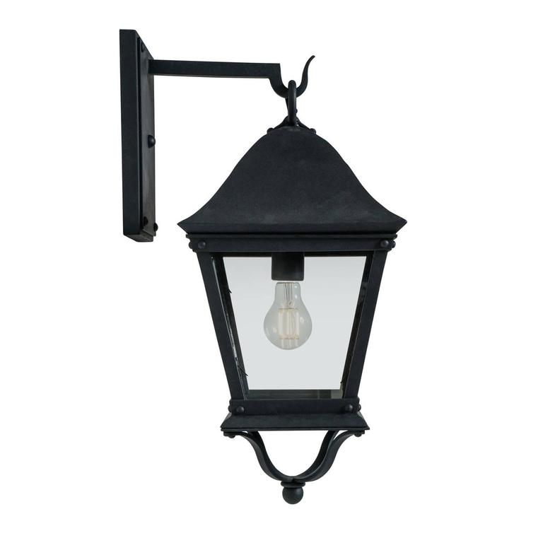 Classic Spanish Colonial Exterior, Outdoor Wrought Iron Wall Sconce Lantern