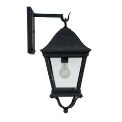 Classic Spanish Colonial Exterior, Outdoor Wrought Iron Wall Sconce, Grey