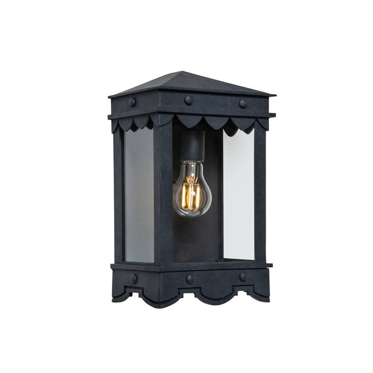Gothic Revival Detailed Mediterranean Style Flush Mount with Historic Profiles Outdoor Lantern For Sale