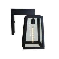 Bel Air II Contemporary Tapered Arm Mount Lantern, Contemporary Lighting Fixture