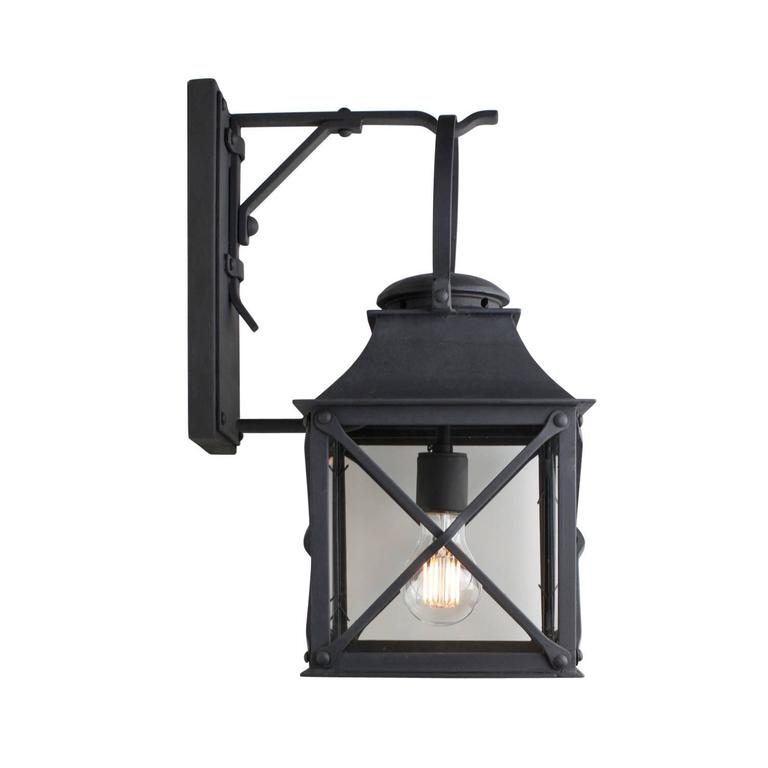 American Classical Classic Coastal Wrought Iron Light Lantern for Exterior Outdoor by Britt Jewett For Sale