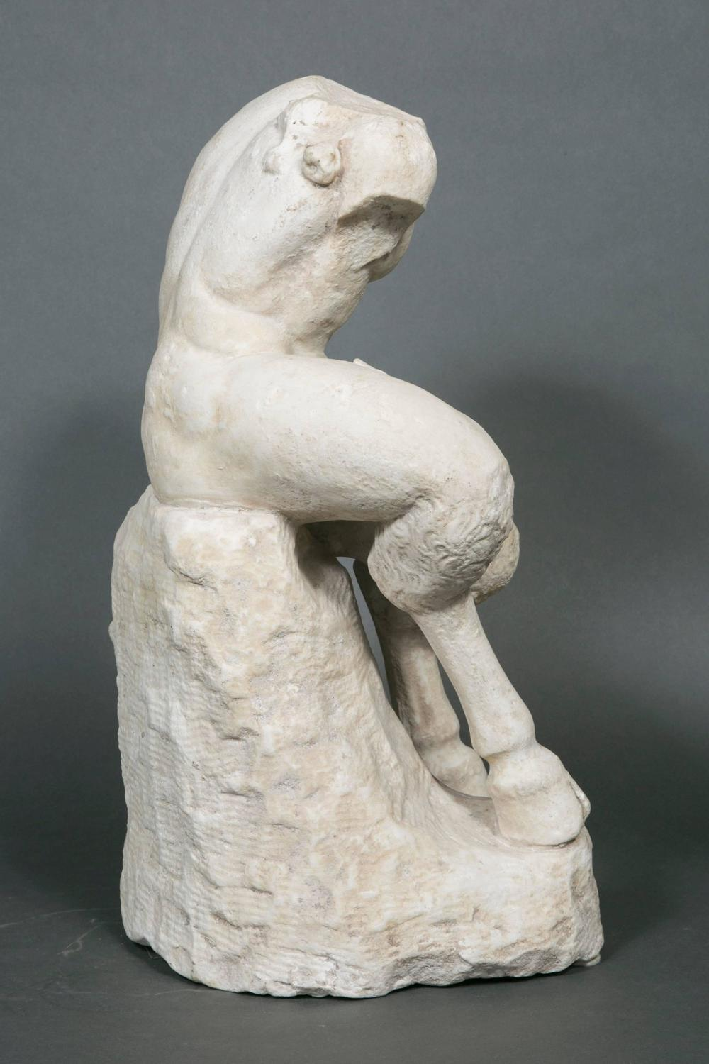 Museum Quality Sculpture Of A Roman Marble Pan For Sale At